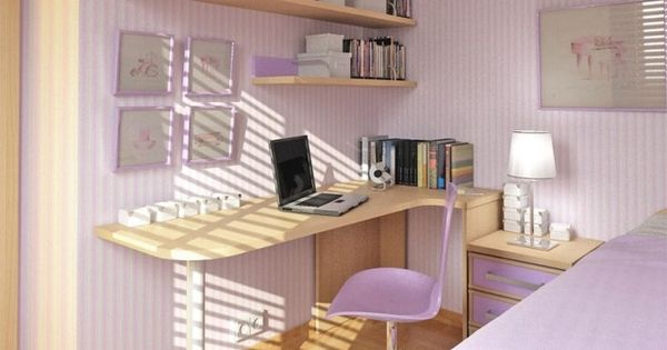 kleines jugendzimmer m dchen lila wandstreifen schreibtisch jugendzimmer pinterest. Black Bedroom Furniture Sets. Home Design Ideas