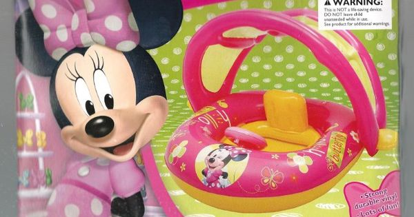 Disney Minnie Mouse Kid S Pool Float With Canopy Amazon