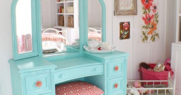Cute Dressing Table Redo For A Little Girl Or Teen Cottage Things Pinterest Dressing