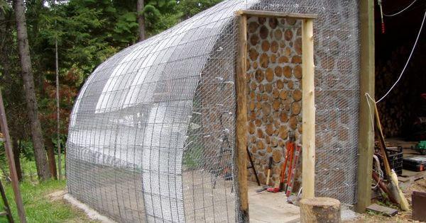 une serre adoss e un mur facile construire jardin. Black Bedroom Furniture Sets. Home Design Ideas