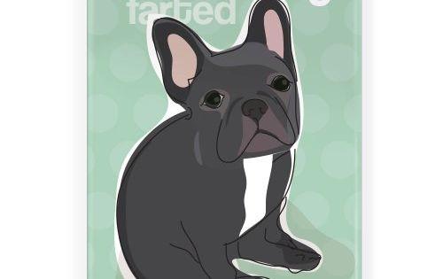 Pop Doggie Somebody Farted Black French Bulldog Fridge Ma French Bulldog Art French Bulldog Gifts French Bulldog Blue