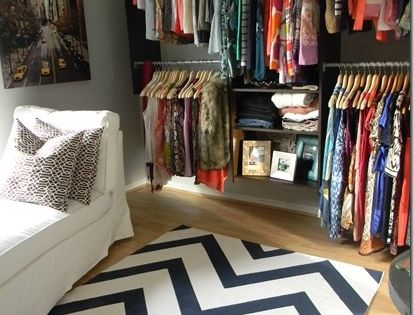 turn a spare bedroom into a giant walk-in closet. obsessed. Thinking I