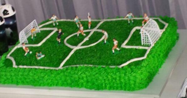 Bolo Campo De Futebol Festa Campo De Futebol Futebol