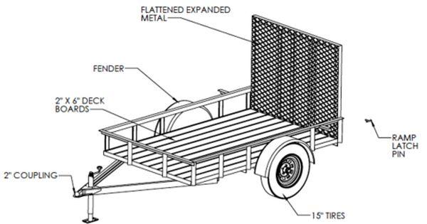5 X8 Utility Trailer Welding Plans Welding Projects Utility Trailer Welding