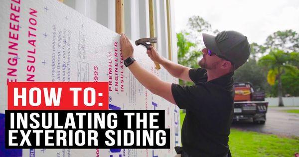 How To Exterior Insulation Cedar Siding Youtube In 2020 Exterior Insulation Cedar Siding Siding