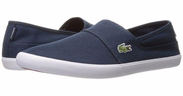 Lacoste MARICE BL 2 Dark Blue Men/'s Cam CNV Slip On Loafers 7-33CAM1071DB4