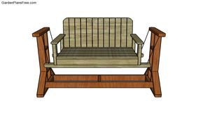 How To Build A Glider Swing Outdoor Furniture Plans Porch Glider Swing Diy Porch Swing