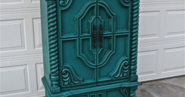 Vintage kast, Blauwgroene slaapkamers and Kasten on Pinterest