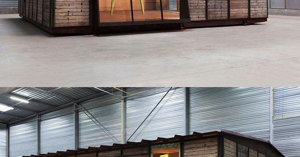 een time lapse van de de bouw van het maison d montable 8x8 van jean prouv het huis stond op. Black Bedroom Furniture Sets. Home Design Ideas