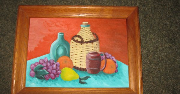 Vintage Still Life Oil On Canvas 10 X 14 Morilla Antique Oil Painting Fruit Painting Oil On Canvas