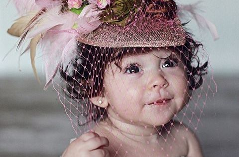 Babies in hats with veils? Yes please. Too fashion models victoria secret