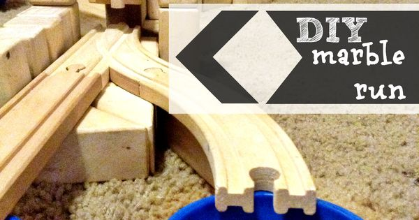 Diy Marble Run Train Tracks And Wooden Blocks
