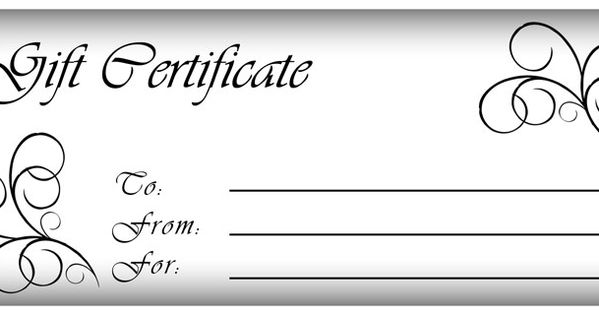 click here for full size printable gift certificate | Gift ...