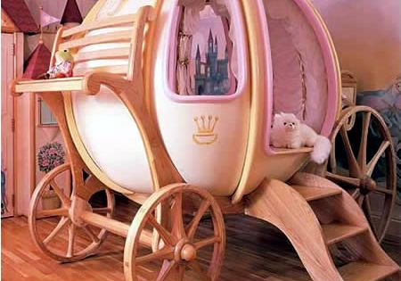 If I were rich and had a little girl. Coolest Toddler beds..