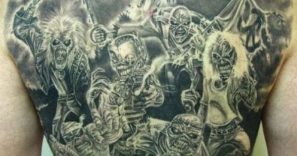 Iron maiden back tattoo favorite rock bands pinterest for Tattoo charlie s preston hwy louisville ky