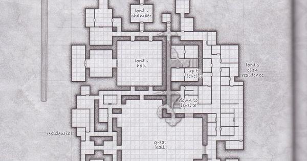 Dwarven ruins floor 2 other d d pictures pinterest for Floor 2 dungeon map