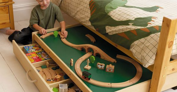 Boys room ideas: Already have a train table, but if we turn