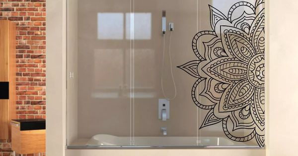 Vinilos decorativos esmerilados mamparas mandalas ba os for Decoracion hogar banos