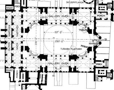 Description Constantinople Hagia Sophia Floor Plan