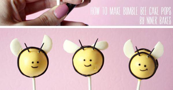 Easter Cake Pops ideas: Bumble Bee & Flowerpot Cake Pops - Tutorial
