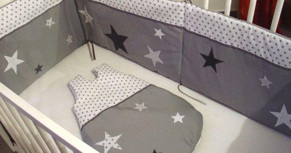 ensemble tour de lit et gigoteuse toil s mode b b par pistache et chocolat couture enfant. Black Bedroom Furniture Sets. Home Design Ideas