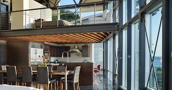 maison esprit loft seattle architecture int rieur et escaliers. Black Bedroom Furniture Sets. Home Design Ideas