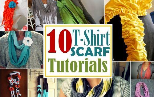 10 DIY t shirt scarf tutorials