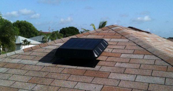 Solar Attic Fan In Cape Coral Fl Solar Solar Heating Solar Attic Fan