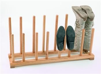 oak shoe and boot rack poles to place shoes on | Boot