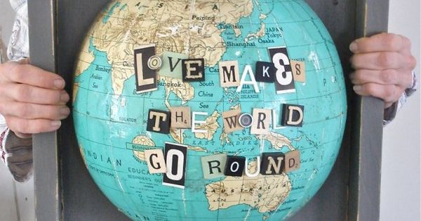 Love makes the world go round- diy wall art