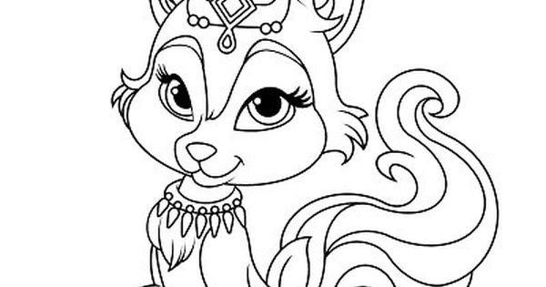 Free Princess Palace Pets Coloring Page Of River