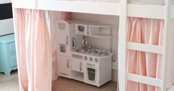 diy loft bed | DIY Tented Loft Bed! -Cute idea for little