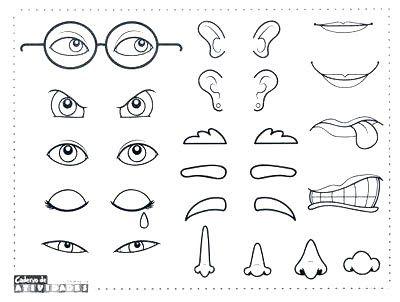 Ojos Para Recortar Y Pegar Buscar Con Google Partes De La Cara Partes De La Misa Caras