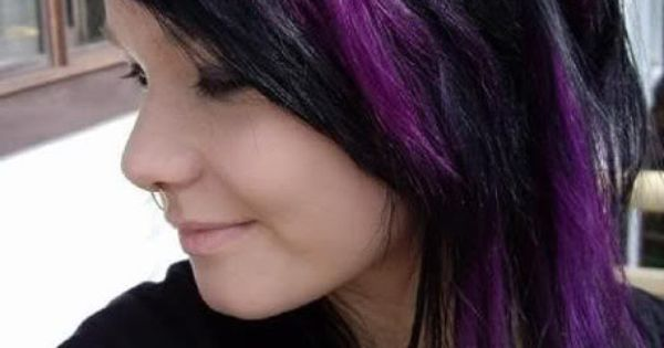 Peekaboo Hair Styles: Purple Peek A Boo Highlights