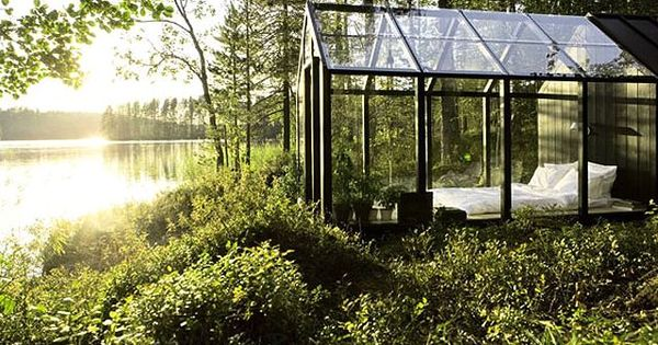 Kekkila garden shed. Glass house, greenhouse with spectacular view.