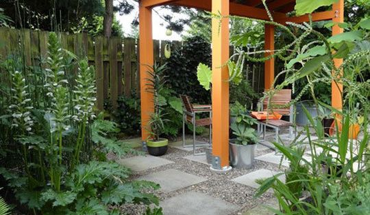 Shade loving trees for small spaces gardens roof structure and garden sitting areas - Trees for shade in small spaces concept ...