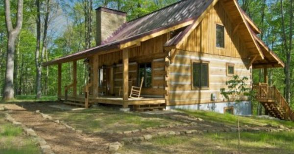 Two Dogs Cabin Brown Co In Cabin Getaway Cabins Small Log Cabin