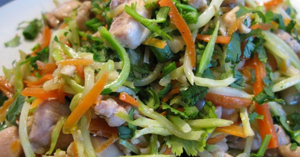 Paleo Pad Thai. Great flavor and crunch. Broccoli slaw and julienned carrots