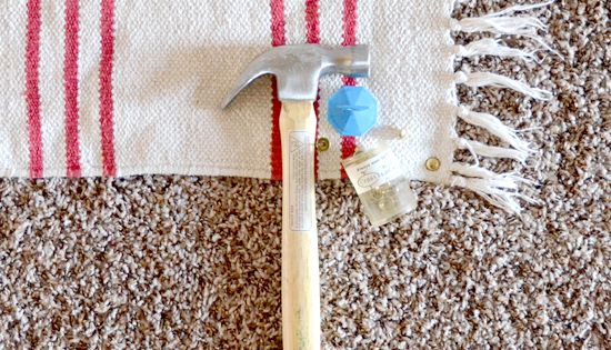 Use Upholstery Tacks To Keep Rugs On Carpet In Place I