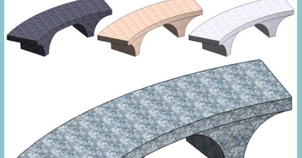 Bellitalia Romana Curved Bench Autodesk Revit
