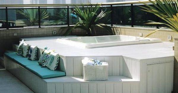 Piscina pequena com deck pesquisa google rea externa - Jacuzzi piscina exterior ...