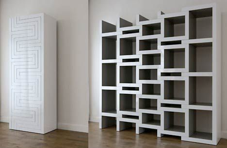 Modular Bookcases With Geometric And Sculptural Designs Cool Bookshelves Unusual Bookcase Unique Bookshelves