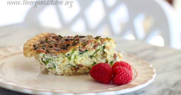 Kale quiche, Quiche and Kale on Pinterest