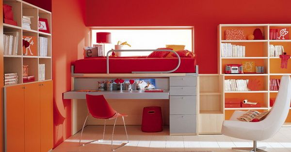 Red Color Schemes Kid Bedrooms And Childrens Bedroom On Pinterest