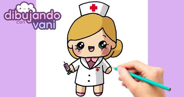 Como Dibujar Una Enfermera Paso A Paso Dibujos Para Dibujar Faciles De Enfermera Para Dibujar Dibujo Paso A Paso Dibujos Kawaii Faciles