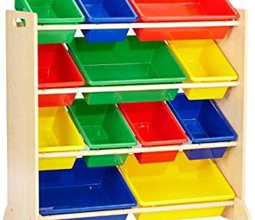 Kidkraft 16774 Etagere De Rangement Chambre Enfant Meuble Incluant 12 Casiers En Plastique Interchangeable En 2020 Meuble Rangement Casier Rangement Bac De Rangement
