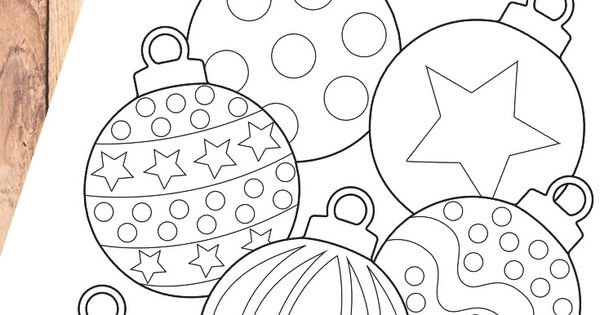 christmas bauble coloring page for kids  christmas