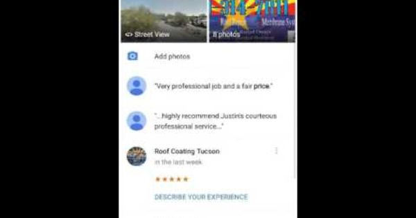 Google Review How To Tucson Roof Coatings Llc Roof Coatings Roof Coating Google Reviews