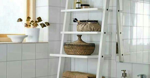 Ikea rangement salle de bain nouvel appart pinterest for Echelle salle de bain ikea