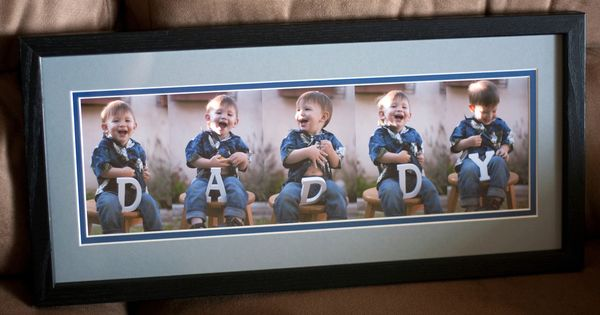 Father's Day Photo Collage. Cute gift idea for Dad! DIY Father's Day